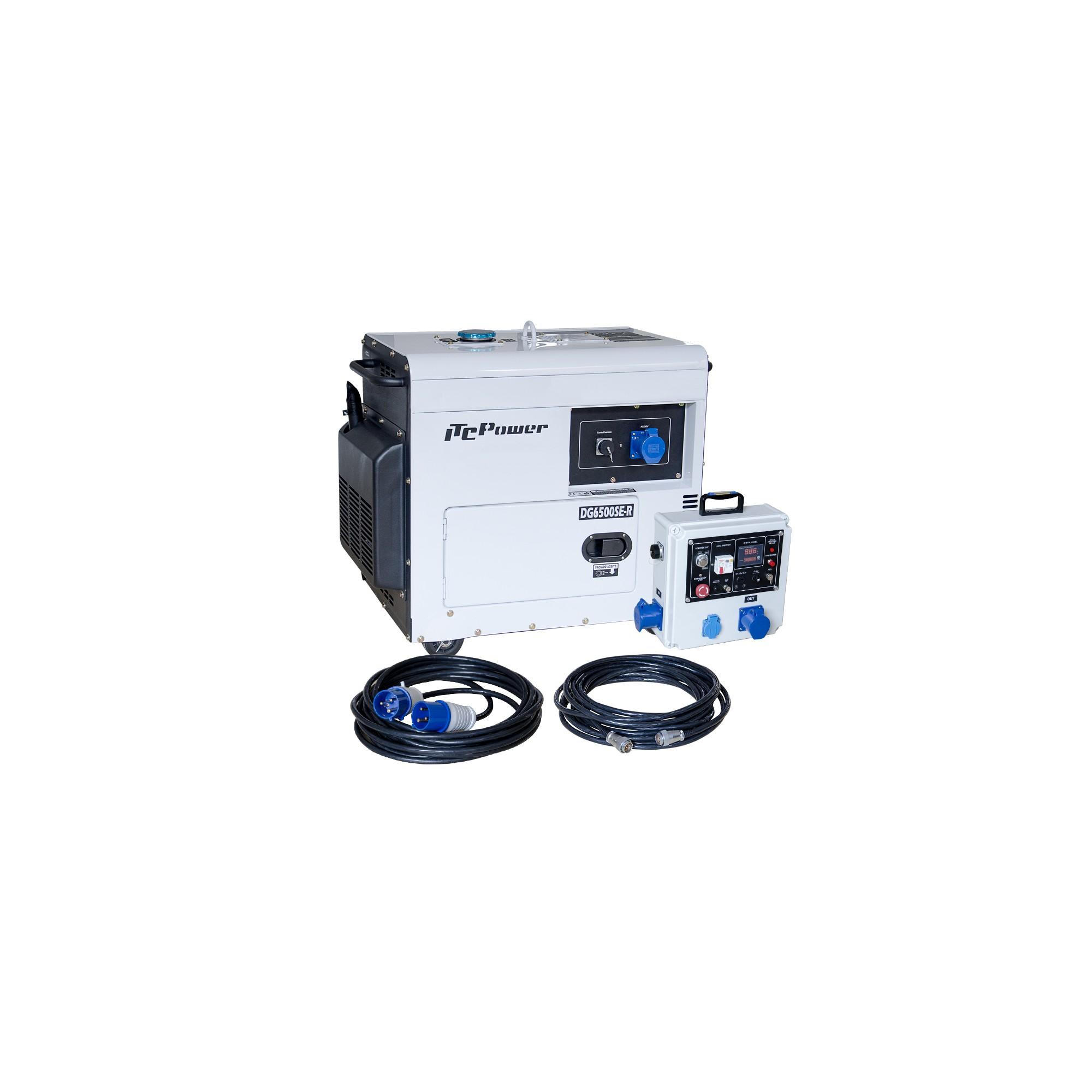 Generador Diesel para Apoyo Solar DG6500SE-LRS