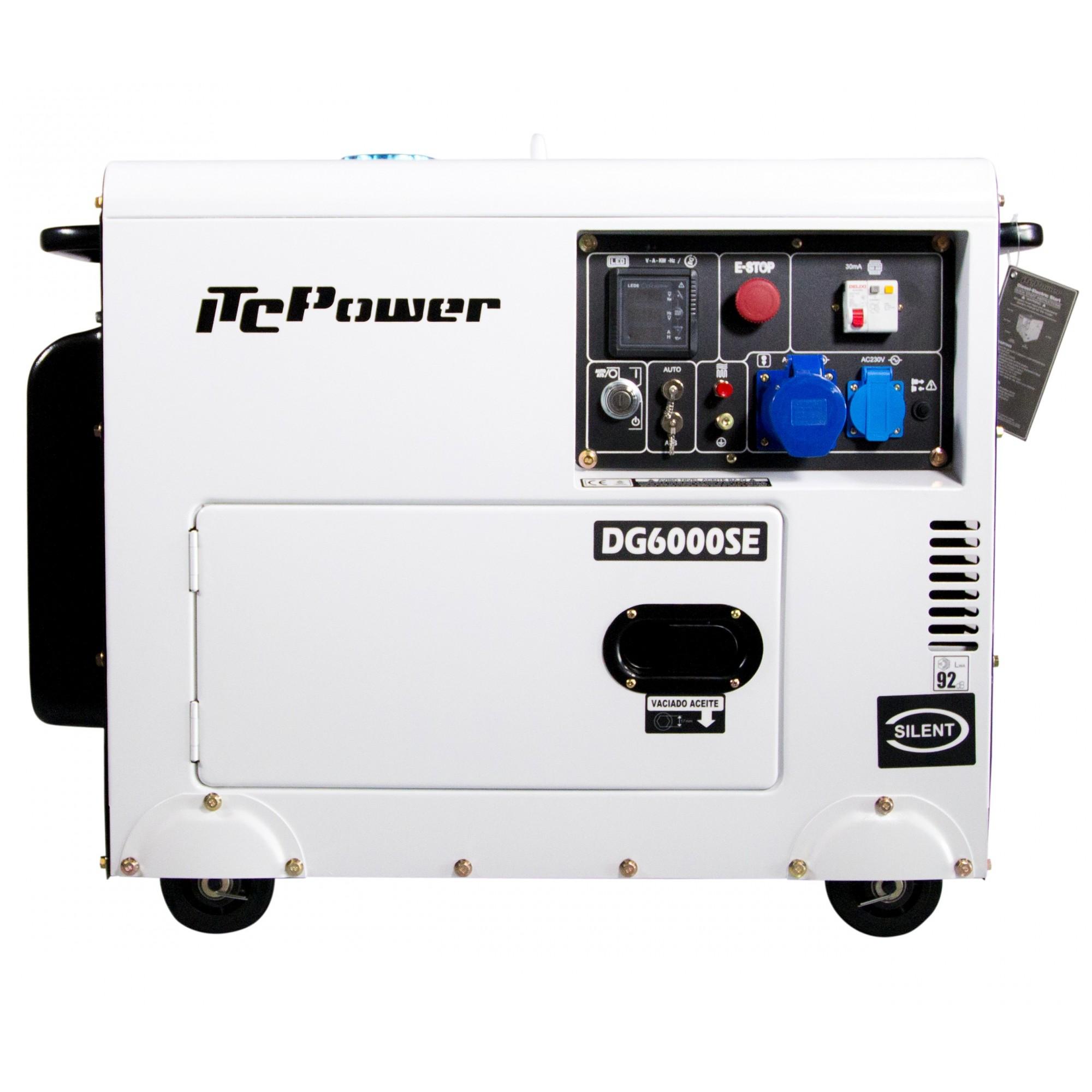 DG6000SE Generador Diesel ITCPower